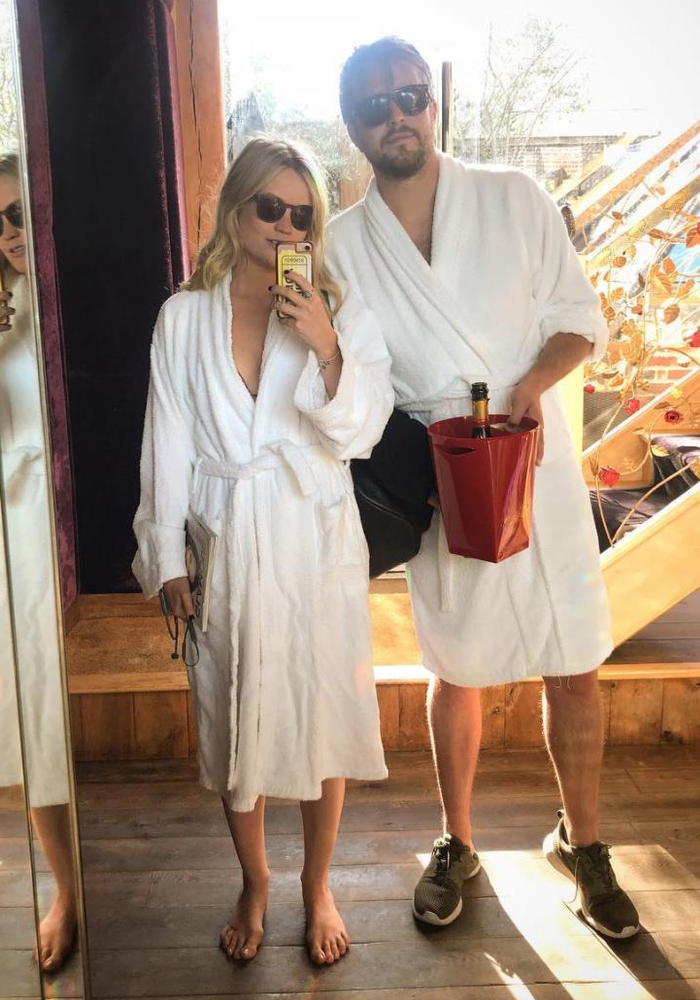 Iain Stirling and girlfriend Laura Whitmore spa day