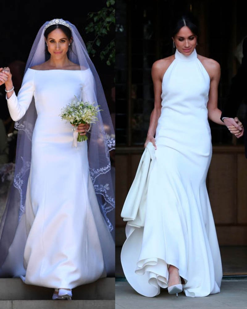 Second Wedding Gowns: Meghan Makle First And Second Wedding Dress... Which Was Best?