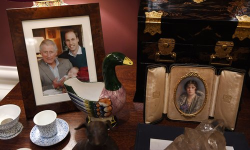 Prince Charles puts royal family items on display at Buckingham Palace