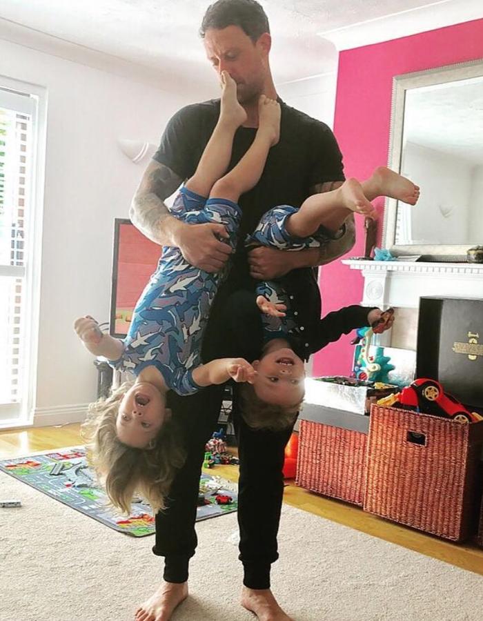 Wayne Bridge and children